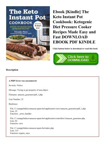 Ebook [Kindle] The Keto Instant Pot Cookbook Ketogenic Diet Pressure Cooker Recipes Made Easy and Fast DOWNLOAD EBOOK PDF KINDLE