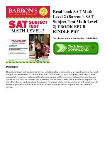 Master the sat subject test math level 1 xtremepapers read book sat math level 2 barrons sat subject test math level 2 ebook fandeluxe Gallery