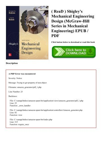Mechanical Engineering Design Shigley Pdf