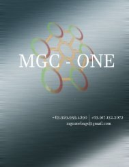 MGC -ONE catalogue combined