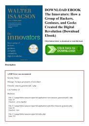 DOWNLOAD EBOOK The Innovators How a Group of Hackers  Geniuses  and Geeks Created the Digital Revolution (Download Ebook)
