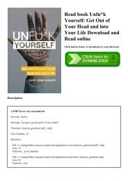 Read book Unfuk Yourself Get Out of Your Head and into Your Life Download and Read online