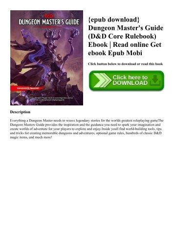 {epub download} Dungeon Master's Guide (D&D Core Rulebook) Ebook  Read online Get ebook Epub Mobi