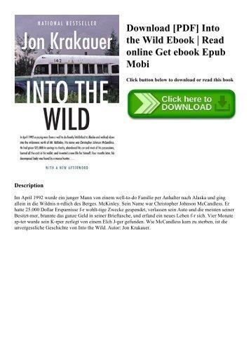 Download [PDF] Into the Wild Ebook  Read online Get ebook Epub Mobi