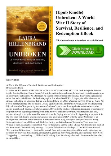 (Epub Kindle) Unbroken A World War II Story of Survival  Resilience  and Redemption EBook