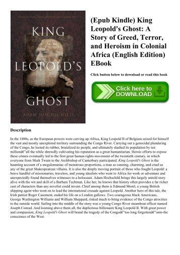 King Leopolds Ghost Pdf