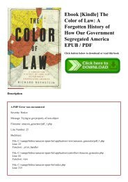 Ebook [Kindle] The Color of Law A Forgotten History of How Our Government Segregated America EPUB  PDF