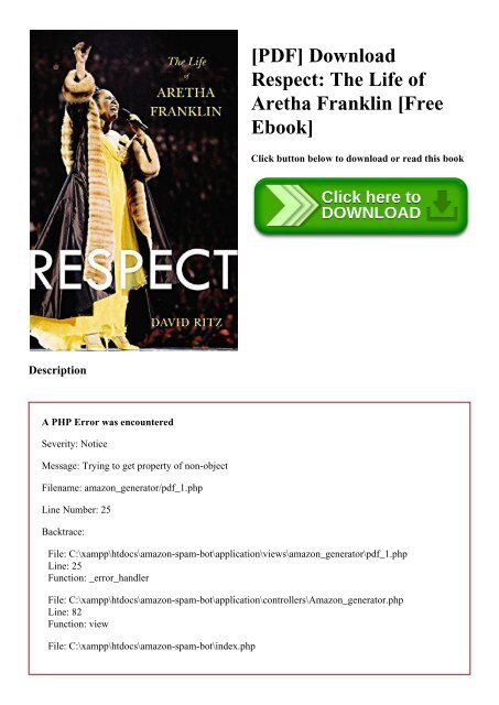 Pdf Download Respect The Life Of Aretha Franklin Free Ebook