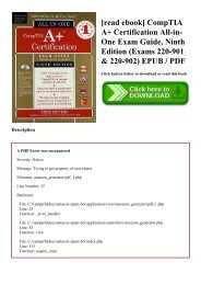[read ebook] CompTIA A+ Certification All-in-One Exam Guide  Ninth Edition (Exams 220-901 & 220-902) EPUB  PDF