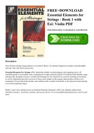 R E A D  [BOOK] Essential Elements for Band - BB Trumpet