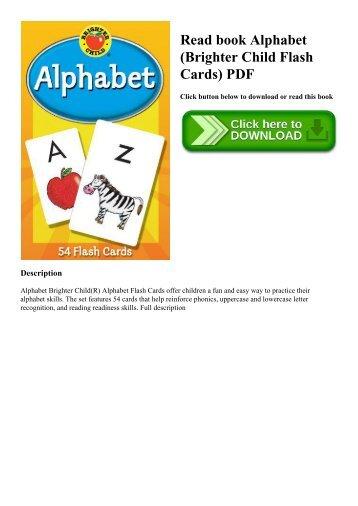 Read book Alphabet (Brighter Child Flash Cards) PDF