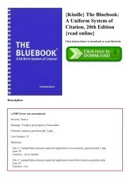 {Kindle} The Bluebook A Uniform System of Citation  20th Edition {read online}