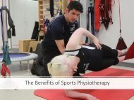 The Benefits of Sports Physiotherapy