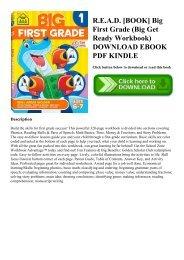 R.E.A.D. [BOOK] Big First Grade (Big Get Ready Workbook) DOWNLOAD EBOOK PDF KINDLE