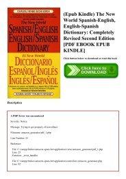 (Epub Kindle) The New World Spanish-English  English-Spanish Dictionary Completely Revised Second Edition [PDF EBOOK EPUB KINDLE]