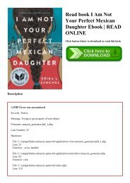 Read book I Am Not Your Perfect Mexican Daughter Ebook  READ ONLINE