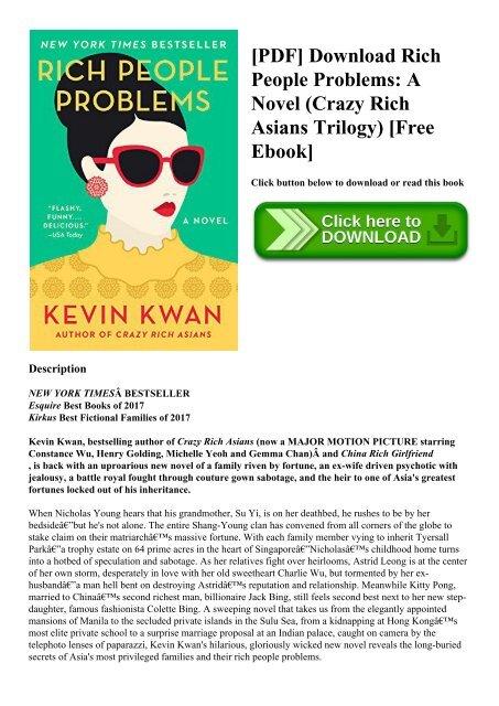 PDF] Download Rich People Problems A Novel (Crazy Rich Asians