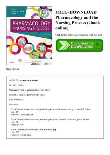 FREE~DOWNLOAD Pharmacology and the Nursing Process (ebook online)
