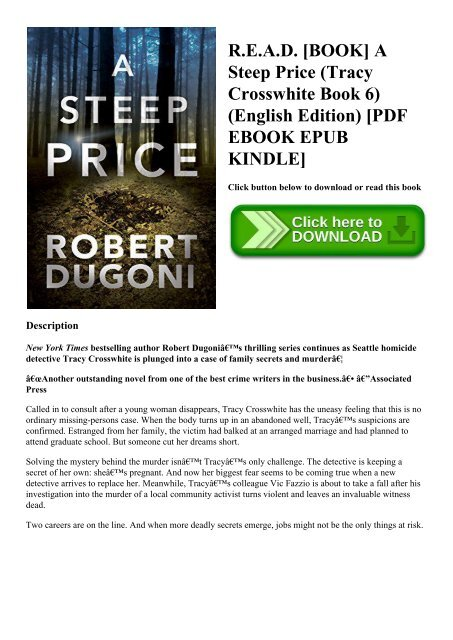 R E A D Book A Steep Price Tracy Crosswhite Book 6 English