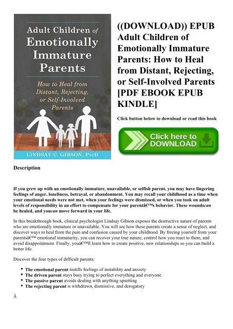 DOWNLOAD)) EPUB Adult Children of Emotionally Immature