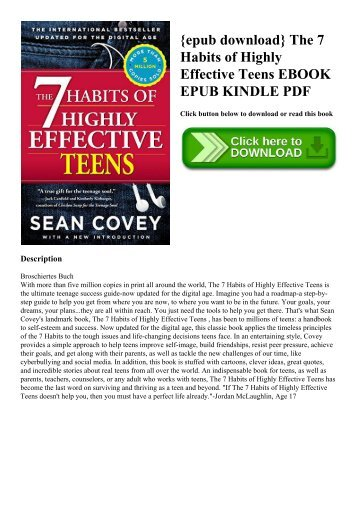 {epub download} The 7 Habits of Highly Effective Teens EBOOK EPUB KINDLE PDF