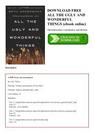 DOWNLOAD FREE ALL THE UGLY AND WONDERFUL THINGS (ebook online)