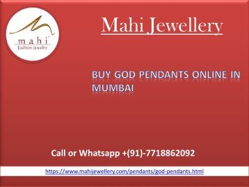 Buy God Pendants online for womens in Mumbai at Reasonable Rates