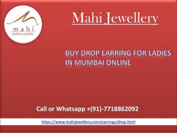 Buy Drop Earring online for Ladies in Mumbai at Cheap Price