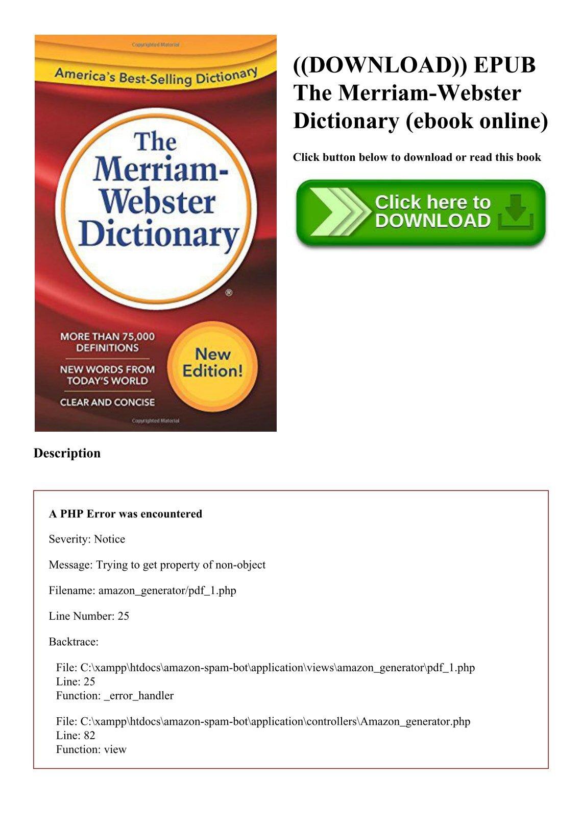 Merriam Webster Ebook