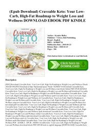 (Epub Download) Craveable Keto Your Low-Carb  High-Fat Roadmap to Weight Loss and Wellness DOWNLOAD EBOOK PDF KINDLE