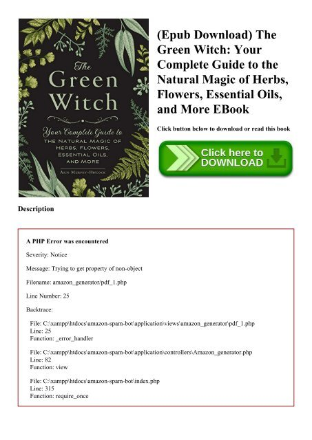 Epub Download) The Green Witch Your Complete Guide to the