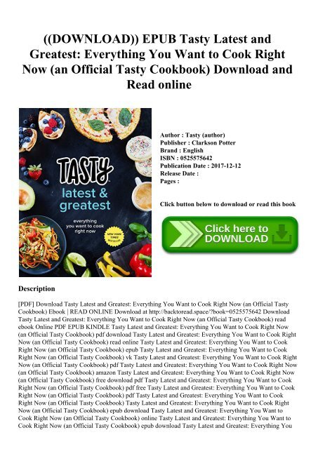 Epub cook download to everything how
