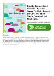 Ebooks download Just Between Us A No-Stress  No-Rules Journal for Girls and Their Moms Download and Read online