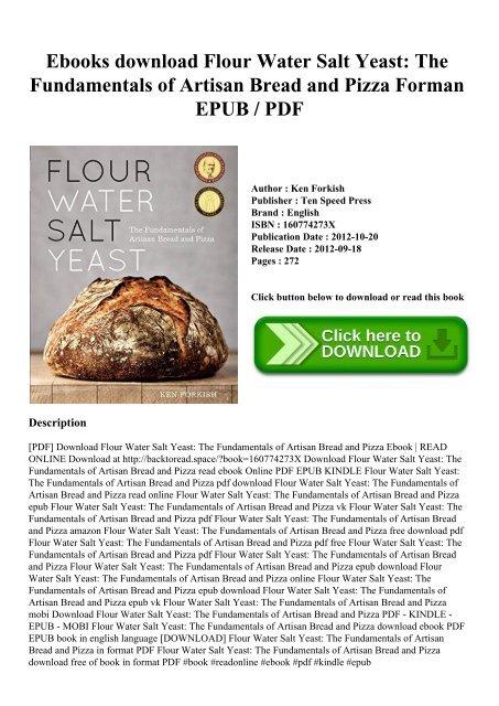 Yeast pdf water salt flour