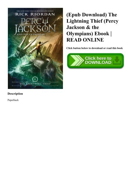 Percy Jackson And The Lightning Thief Epub