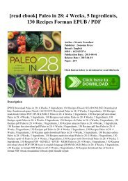 [read ebook] Paleo in 28 4 Weeks  5 Ingredients  130 Recipes Forman EPUB  PDF