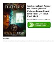 {epub download} Among the Hidden (Shadow Children Books) Ebook  Read online Get ebook Epub Mobi