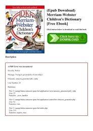 Merriam Webster Dictionary Ebook