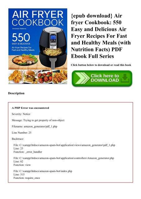 epub download} Air fryer Cookbook 550