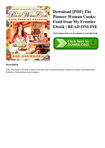 Download [PDF] The Pioneer Woman Cooks Food from My Frontier Ebook  READ ONLINE