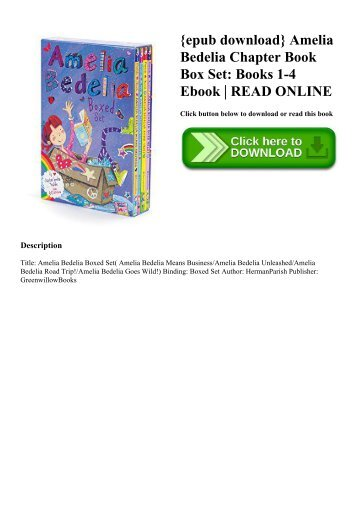 {epub download} Amelia Bedelia Chapter Book Box Set Books 1-4 Ebook  READ ONLINE
