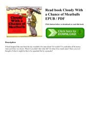 Read book Cloudy With a Chance of Meatballs EPUB  PDF