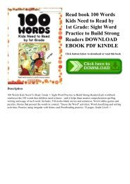 PDF] Download 100 Words Kids Need to Read by 1st Grade