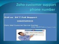 zoho mail customer service