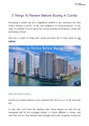 3 Things To Review Before Buying A Condo
