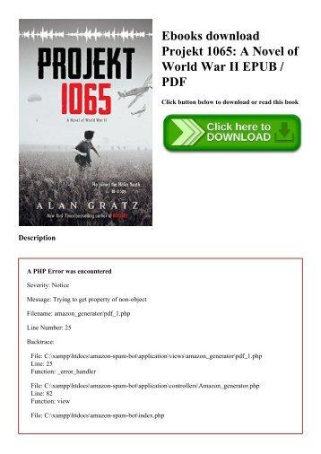 Ebooks download Projekt 1065 A Novel of World War II EPUB  PDF