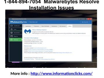 1-844-894-7054  Malwarebytes Resolve Installation Issues