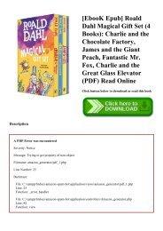 James And The Giant Peach Roald Dahl Pdf