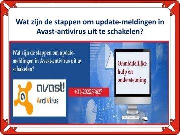 Wat zijn de stappen om update-meldingen in Avast-antivirus uit te schakelen