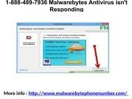 1-888-489-7936 Malwarebytes Antivirus isn't Responding
